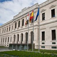Una representación teatral en el Palacio de Justicia de Burgos