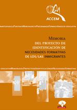 Memoria del proyecto de identificación de necesidades formativas de los/las inmigrantes